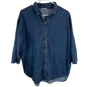 Eileen Fisher Denim Shirt Blue Size L